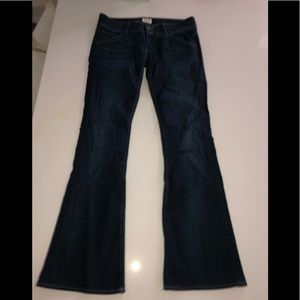 Hudson bootcut jean dark blue stretch denim 27